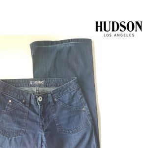 Hudson Low Rise Flare Wide Leg Jeans Size 27